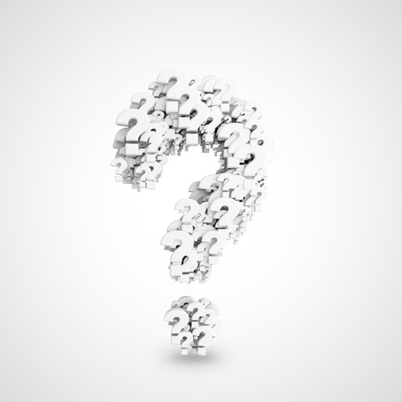 many question mark symbol  on a white background photo