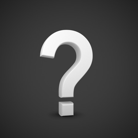 white question mark symbol  on a white background photo