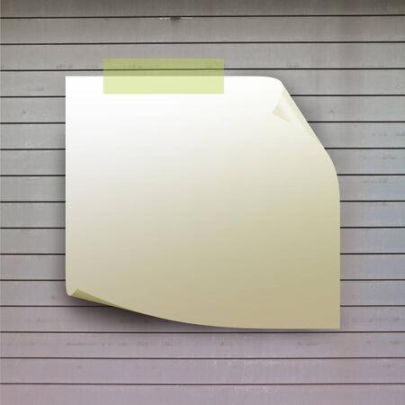 stiker: blank stiker on wooden wall