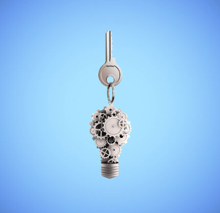 key fob: key fob with a lamp of gears