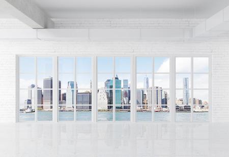 big window: witte loft met groot raam