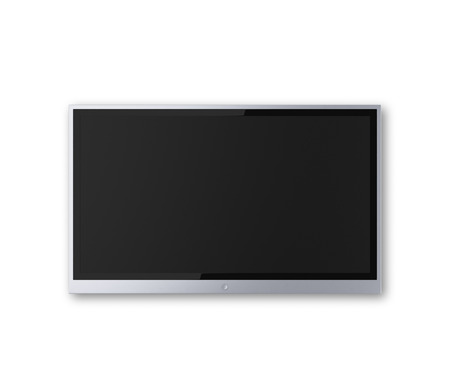 wide screen TV on a white background