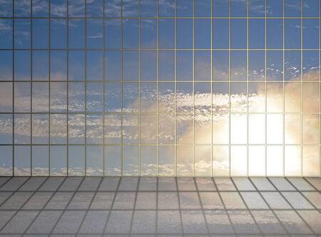 sunlight hall and big window photo