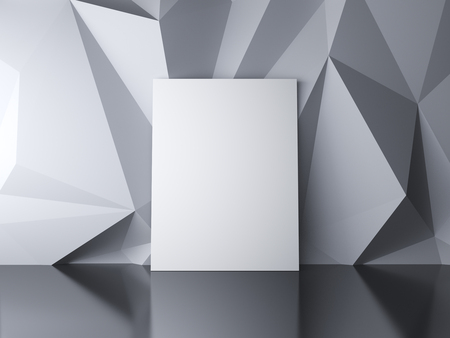 amaged: blank paper in a white abstract background Stock Photo