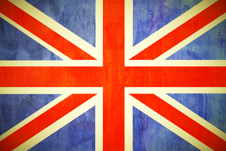 United Kingdom flag painted in grunge style texture photo