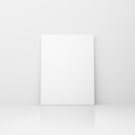 amaged: blank placard in a blue abstract background