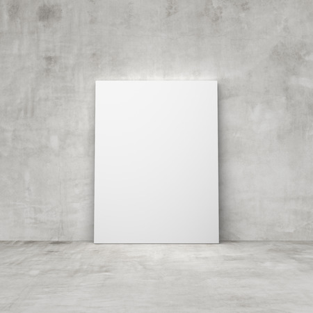 amaged: blank poster in a concrete room