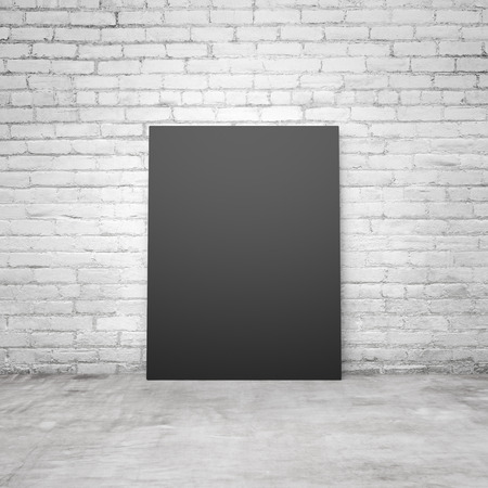 amaged: blank black paper in a loft interior