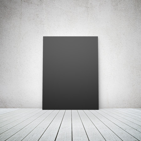 amaged: blank black paper in a room