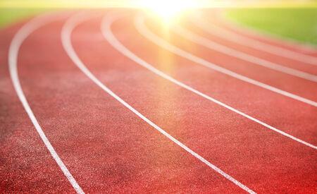 pista de atletismo: pista de atletismo para el atletismo y la competencia Foto de archivo