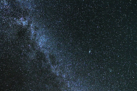 vulpecula: The milky way stars at night, close up Stock Photo