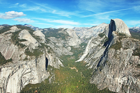 Panoramic view of Yosemite Valley photo