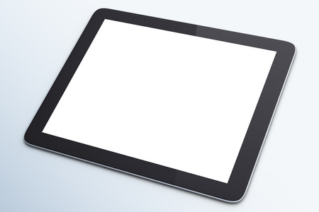 blank digital tablet on a white background