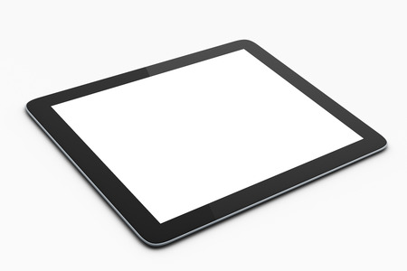 blank tablet: digital tablet on white background, mock up