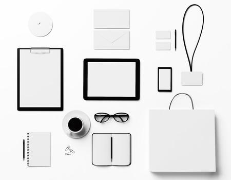 ブランドのグラフィック デザイナーのためにモック 写真素材