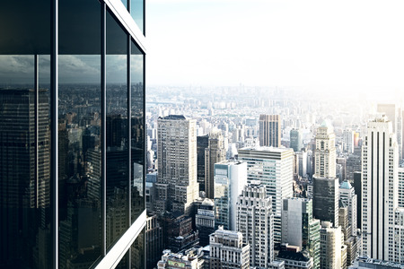 bureau design: Immeuble de bureaux de verre moderne