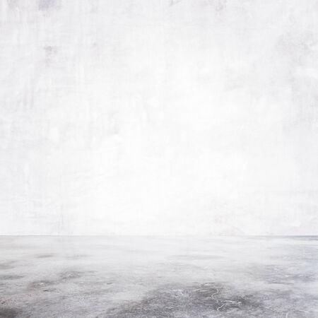 undecorated: empty room with concrete floor, close up