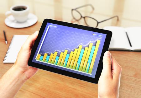 financial graph: illustration Financial graph on digital tablet