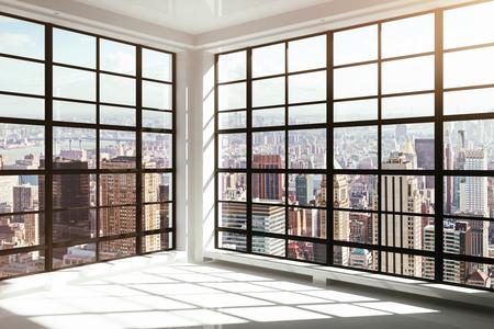 empty glass: vacío interior moderno blanco