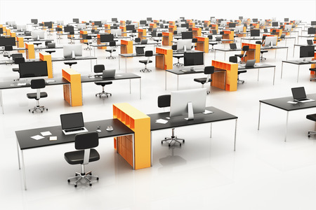 office space: Contemporary open space office