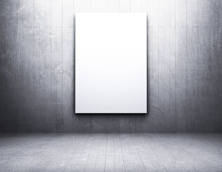 square background: Blank frame in an empty room
