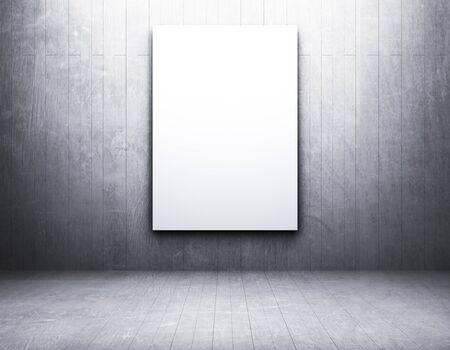 Blank frame in an empty room