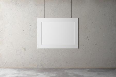 concrete background: Blank frame a concrete wall Stock Photo