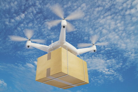 despatch: illustration quadrocopters deliver