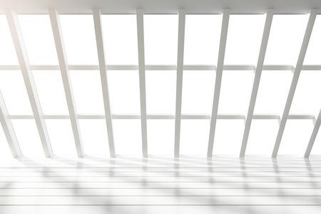 big windows: Beautiful white loft interior with big windows