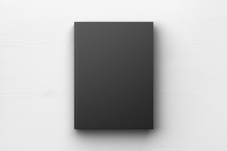 blank book cover: Black book cover, mock up Stock Photo