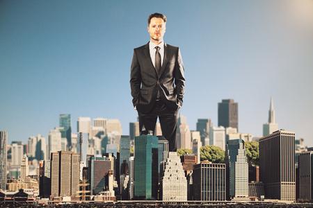 ビジネスマンのルール都市のコンセプト