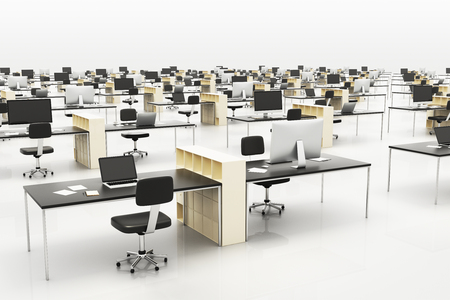 openspace: Modern openspace office with furniture