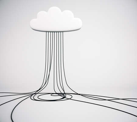 cloud service: Cloud service technology concept in empty room
