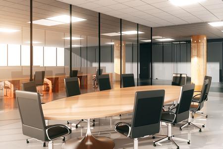Moderne conferentieruimte met meubilair