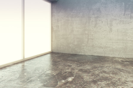 open spaces: Empty loft style room with concrete floor and wall