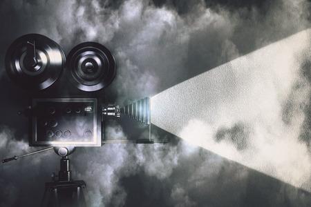 camara de cine: Cámara de la vendimia hacer una película en el cuarto oscuro con las nubes