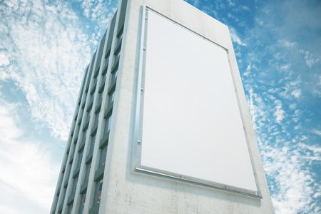 건물 벽에 큰 광고판, 최대 모의