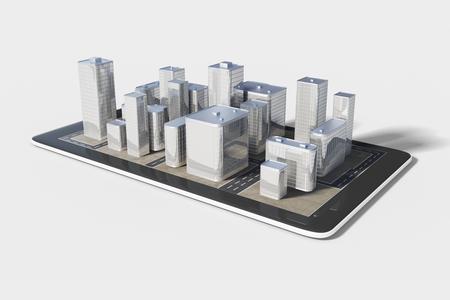 infraestructura: Plano de la zona urbana en el tel�fono celular