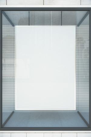 Vitrine blanche Blank avec cadre vitreux, maquette Banque d'images - 50929320
