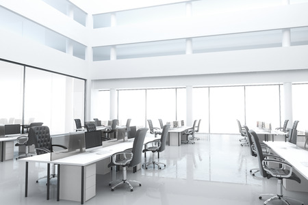 Large, bright modern office with windows and furniture Stock Photo - 51533458