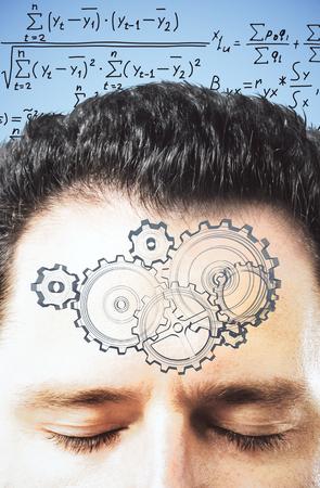 decides: Man decides equation in mind