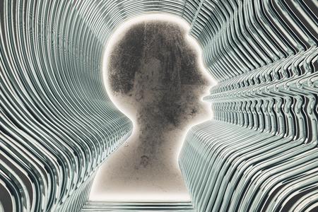 man profile: Profile silhouette of a man
