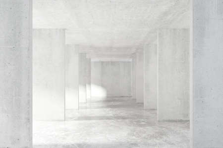 tunnel light: Loft style tunnel with many walls in light empty building Stock Photo