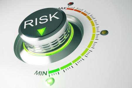concepto de control de riesgos Foto de archivo