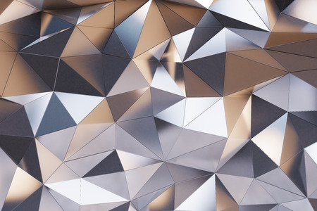 抽象的な金属の壁