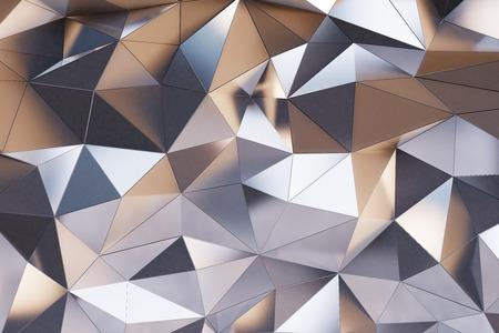 Abstract metal wall