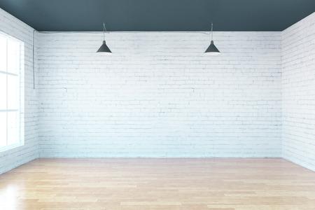 空光インテリアに windows、シティー ビュー、3 D レンダリング 写真素材 - 56565410
