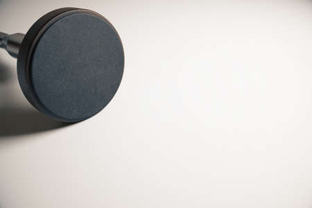 validity: Empty round stamper on light surface. Mock up, 3D Rendering