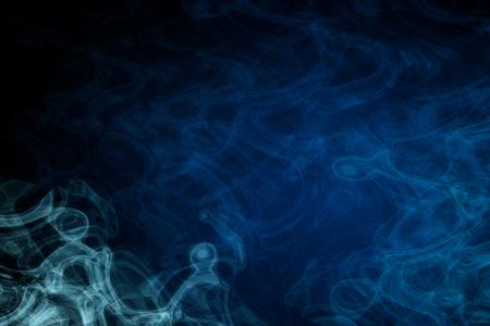 Abstract blue smoke backgroundwallpaper Stock Photo