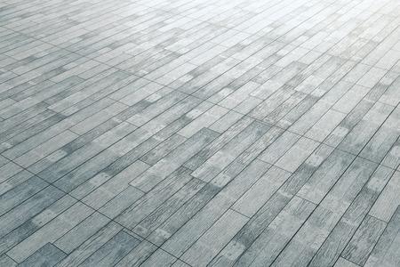 Sluit omhoog van grijze houten bevloering. Bespotten, 3D-weergave